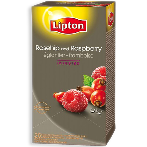 Билков чай Lipton Шипка и малина
