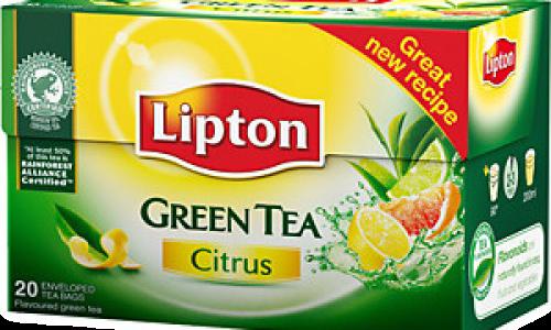 Зелен чай с цитрусови плодове
