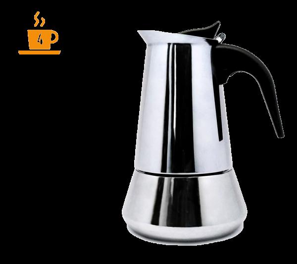 Стоманена кафеварка Nerthus за 4 кафета